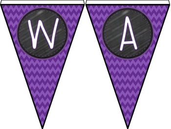 Color Combos Collection: Purple Pizazz Complete Classroom Word Wall -Editable