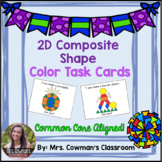 Color Composite Shapes: Pattern Block Task Cards
