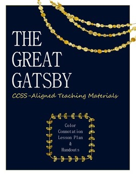 The Great Gatsby -- Color Connotation Lesson Plan & Handouts
