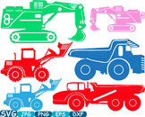 Color Construction Machines toy toys cars car clipart work builders -320s