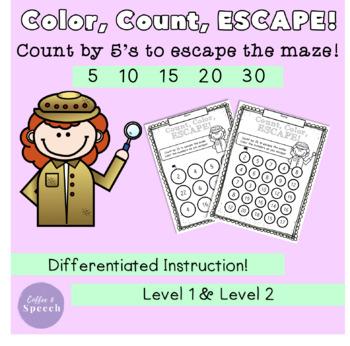 Color, Count, Escape! Count by 5's
