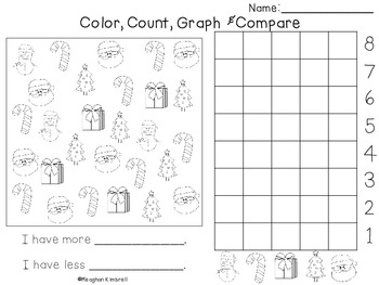 Color, Count, Graph & Compare Christmas