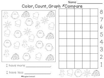Color, Count, Graph & Compare WINTER