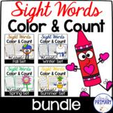 Color & Count Sight Words Bundle
