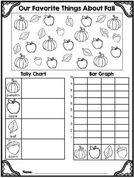 Color & Count!! Tally Chart and Bar Graph Bundle!