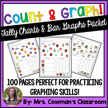 Color & Count!! Tally Chart and Bar Graph Packet