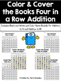Color & Cover the Books Four in a Row Addition