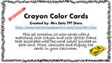 Color Crayon Classroom Cards