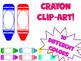 Crayon clip art or name plates