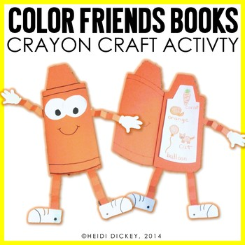 Color Crayon Craft & Activity Pack-A Color Book Craft for Little Learners