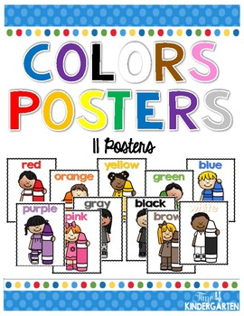 Color Crayon Kids Posters