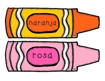 Color Crayon Poster - Spanish