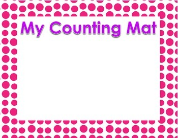 Kindergarten Counting Objects Center