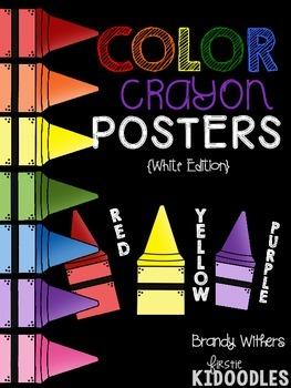 Color Crayon Posters {Black Edition}