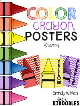 Chevron Color Crayon Posters