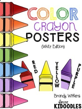 White Color Crayon Posters