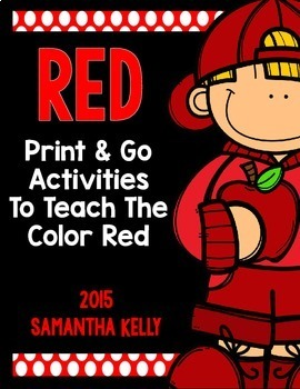 The Color Red Printables
