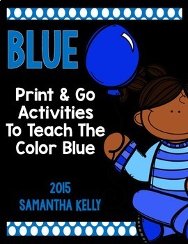 The Color Blue Printables