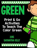 The Color Green Printables