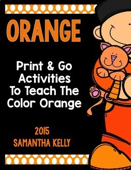 The Color Orange Printables