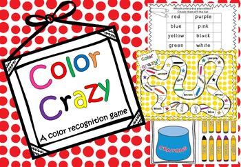 Color Crazy {a color recognition game} *FREEBIE*