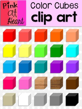 Color Cubes Clip Art