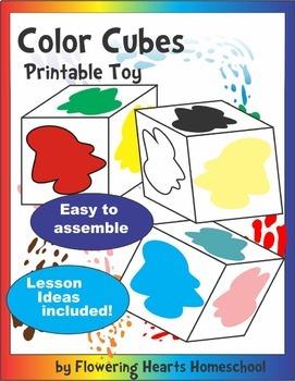 Color Cubes Multi-Lingual Toys