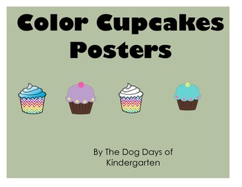 Color Cupcakes Posters