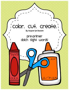 Color. Cut. Create: Bundle Sight Word Worksheets