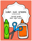 Color. Cut. Create.: Second Grade Dolch Sight Words