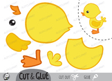 Free!!! Color, Cut & Glue ,Duckling , Jpeg