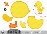 Free!!! Color, Cut & Glue ,Duckling , Jpeg
