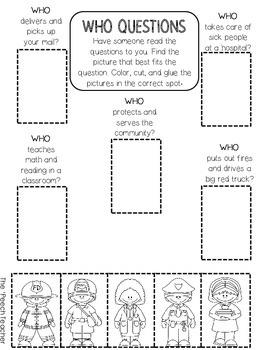 color cut glue wh question worksheets by the peech teacher tpt