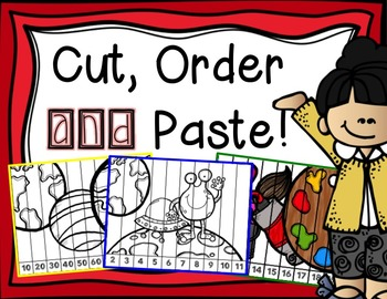 Color, Cut, Order and Paste by Numbers