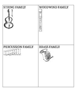Color, Cut, Paste- Sorting Instrument Families
