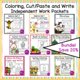 Color Cut Paste and Write Sentences Independent Work Packe