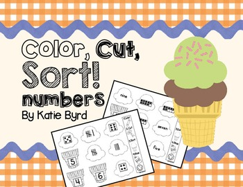 Color, Cut, Sort! Numbers 1-10