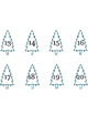 Color, Cut, and Count the Christmas Trees 1-20