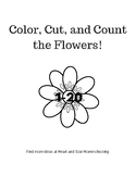 Color, Cut, and Count the Flowers 1-20