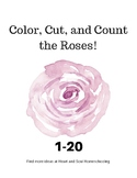 Color, Cut, and Count the Roses 1-20