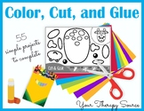Color, Cut, and Glue - Fine Motor, Sequencing and Visual P