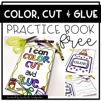 Color, Cut, and Glue Practice Book FREE