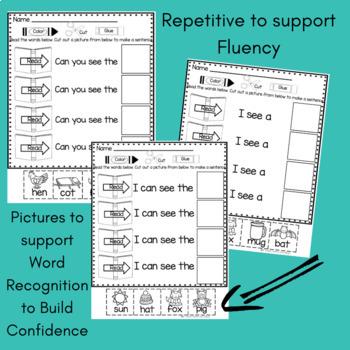 Sight Word Sentences for Kindergarten Fluency First 100 Words