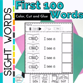Sight Words:Color,Cut & Glue Sight Word Sentences for K & 1