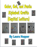 ABC Letter Crafts-Capital Letters(Color, Cut, and Paste)