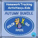 Color, Cut and Paste BUNDLE: September-October-November