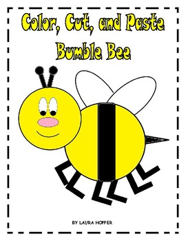 Color, Cut, and Paste Bumble Bee Craft