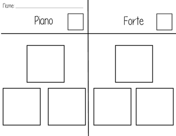 Color, Cut, and Paste Dynamics Activity: Piano and Forte