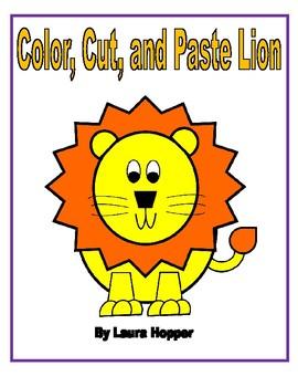 Color,Cut, and Paste Lion Craft