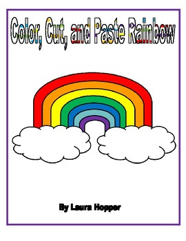 Color, Cut, and Paste Rainbow
